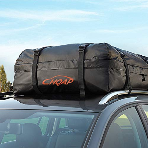 HQAP 18 Cubic Feet Roof Top Cargo Bag 100% Waterproof Sturdy Straps Heavy Duty Car Van Top Carrier Storage Box Luggage