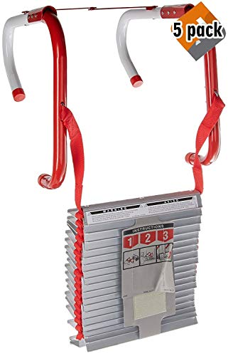 Kidde 468094 Three-Story Fire Escape Ladder with Anti-Slip Rungs, 25-Foot - 5 Pack