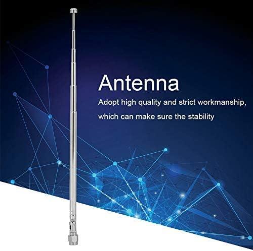 Antenna Di Ricambio In Lega Per Comunicazione Radio LimeSDR 40MHz-6G Antenna Radio Da 0,8 Pollici Argento Con Connettore Maschio SMA Antenna Telescopica