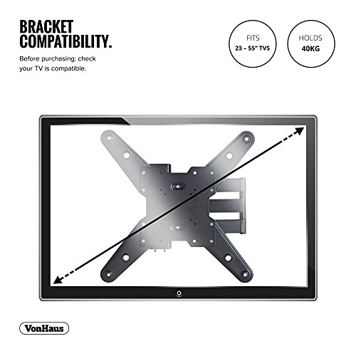 Vonhaus Tv Wall Mount Full Motion For Most 23 55 Inch Led