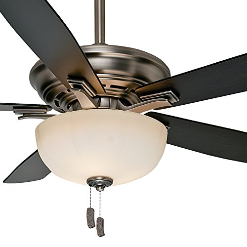 """Casablanca 54"""" Traditional Ceiling Fan in Antique Pewter wit"""