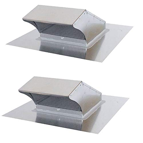 - Air King PRC10R 8 Inch Galvanized Steel Round Professional Hood Roof Wall Cap (2 Pack)