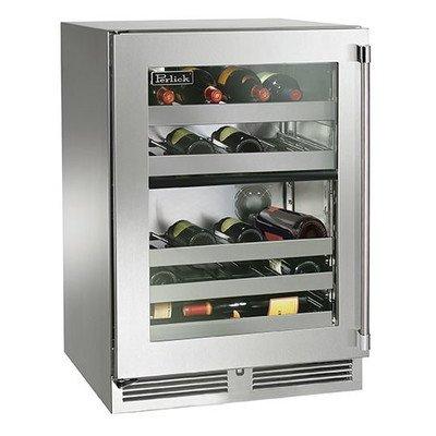 Signature Series 32 Bottle Dual Zone Freestanding Wine Refrigerator Hinge Orientation: Left (Perlick Refrigerator Wine)