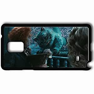 Personalized Samsung Note 4 Cell phone Case/Cover Skin Alice In Wonderland Cat Cheshire Cat Cheshire Hat Black