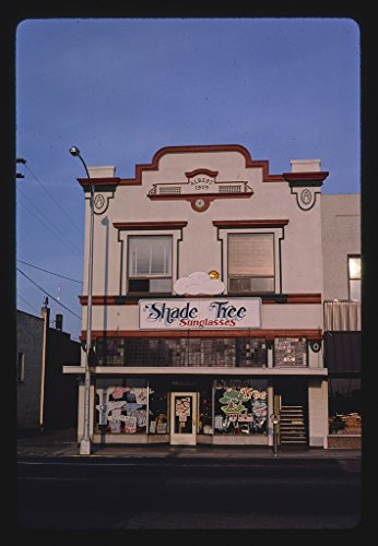 24 x 16 Ready to Hang Gallery Wrapped Fine Art Canvas Print of: Shade Tree Sunglasses, Northeast 6th Street, Grants Pass, Oregon 1987 Roadside Americana, J Margolies 64a