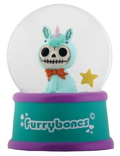 3.5 Inch Cold Cast Resin Furrybones Unie Water Snow Globe Figurine
