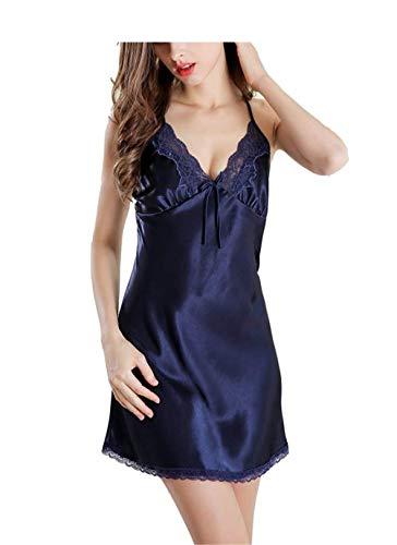 V Vestido Babydoll Blue Cruz Modernas De Camisón Pijama Mujer Casual Cuello Erótico Dormir Mangas Royal Con Sling Verano Sin Ropa En Encaje qx1AZqwr