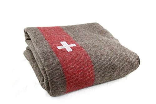 Extra Heavy Duty Swiss Army Military Wool Blanket Cover