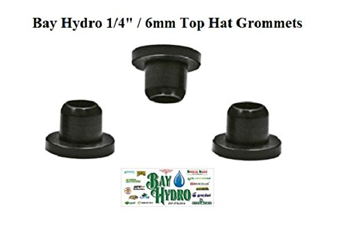 Bay Hydro 1/4'' ID Top Hat Grommets THG 100pc by Bay Hydro