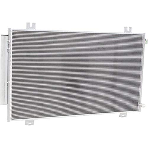 Drier Reciever (New A/C Condenser For 2018 Honda Odyssey With Reciever Drier, Aluminum HO3030169)