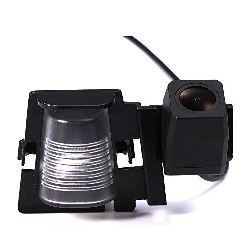 LYNN car Backup Camera , Waterproof Rear-view License Plate Car Rear Backup Camera for Wrangler JKU Rubicon / Sahara / Unlimited Sahara from 2012 to 2015