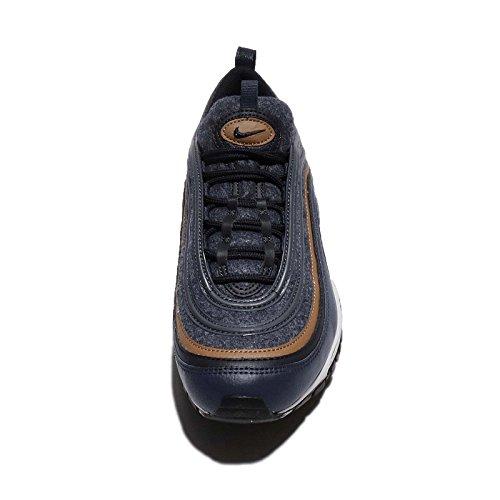 Nike Mens Air Max 97 Premium, Tuono Blu / Scuro Ossidiana-ale Marrone, 15 M Us