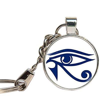 DADATU Llavero Egipto Horus Ojo Llavero Vidrio Cabochon ...