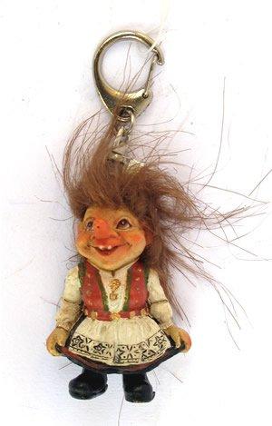 Llavero de troll Mujer de hardang, Noruega: Amazon.es ...