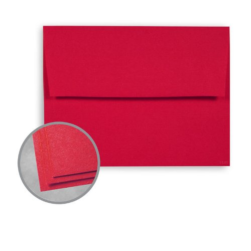 Astrobrights Re-Entry Red Envelopes - A7 (5 1/4 x 7 1/4) 60 lb Text Smooth 30% Recycled 1000 per Carton 30% Recycled Re Entry