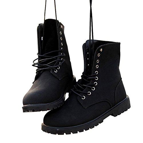 Sol Lorence Män Vinter Chukka Boots Mode Spets-up Korta Stövlar Svart