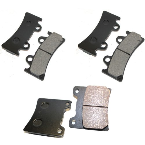 Yzf750 Front - Caltric FRONT REAR BRAKE Pads Fits YAMAHA YZF750 YZF 750 YZF750R YZF 750R 1994-1998 FRONT REAR Pads