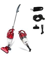 Todeco - Aspirateur 2 en 1 Balai et à Main, Balai Éléctrique - Capacité du bac à poussière: 1,3L - Puissance maximale: 800 W - Rouge