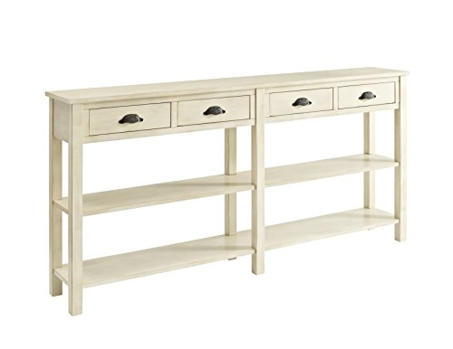 Powell Furniture Crackle Console, Cream