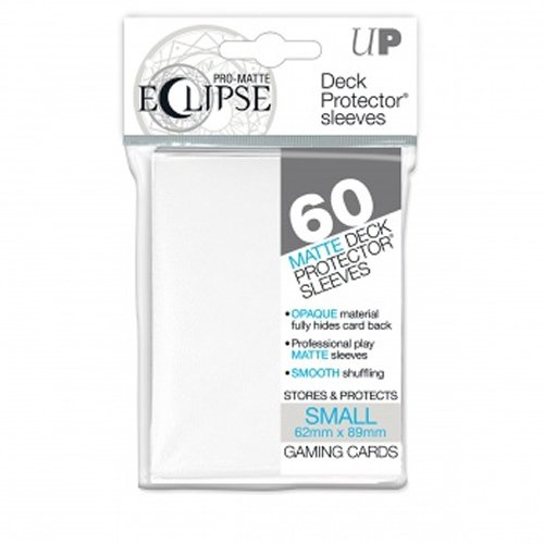 PRO-Matte Eclipse White Small Deck Protector sleeves (60 count pack)