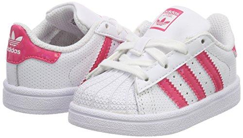 real White 0 footwear Unisex Superstar Sneaker – White Pink Bianco Adidas 24 Bimbi footwear wAvqXz