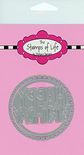The Stamps of Life Happy Birthday Dies Circle for Card Making Scrapbooking and DIY Crafts by Stephanie Barnard - Sentiments Happy Birthday Die Cuts (Sentiments Stamps Circles)