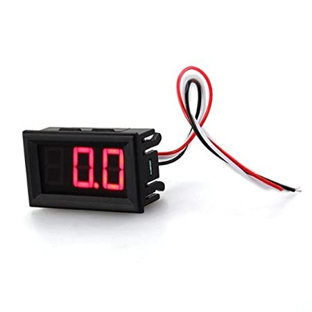 Waymeduo Mini voltm/ètre testeur test num/érique voltage batterie auto car