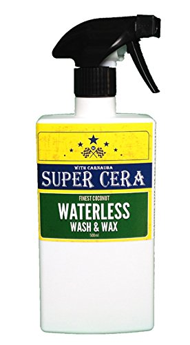 Car Wash And Wax >> Super Cera Brazilian Wax Waterless Car Wash And Wax 500ml Car Cleaner Easy Spray On Wipe Off Formula With Premium Grade Brazilian Carnauba Wax For