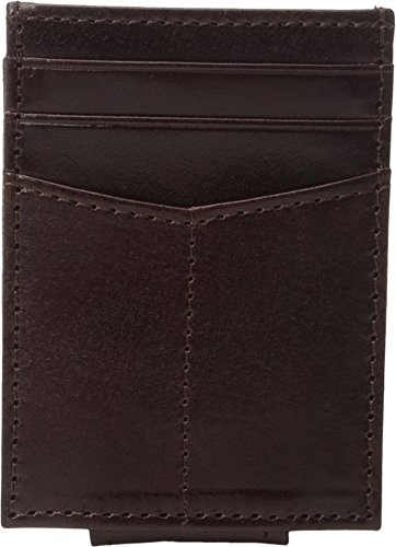 Johnston & Murphy Men's Front Pocket Wallet Mahogany Cell Phone Wallet