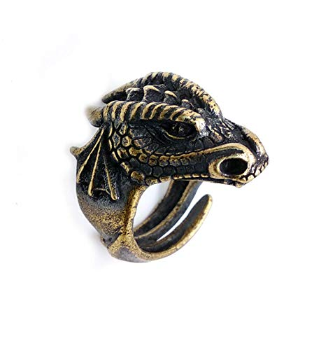Dragon head brass ring