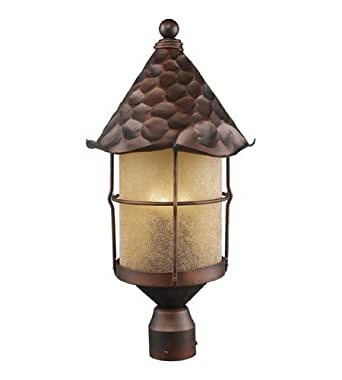 Outdoor Post 3 Light With Antique Copper Finish Candelabra 26 inch 180 Watts - World of Lamp