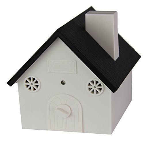 (Joyfay Outdoor Bark Controller- Ultrasonic House Shaped Dog Bark Training Device, Harmless and Humane White House for Dogs)