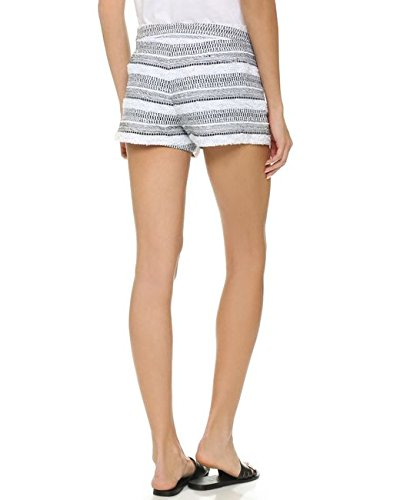 Generation Love Mason Striped Boucle Shorts Black-White Size M by Generation Love (Image #1)