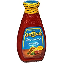 Ortega Taco Sauce Original Thick & Smooth Medium 8.0 OZ
