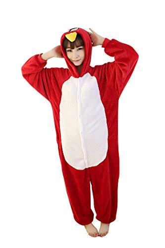 MissFox Unisex Adult Kigurumi Pajamas Costume Cosplay Homewear Lounge Wear XL Angry Birds