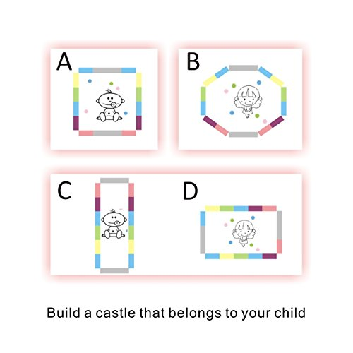 Baby Playpen Kids Activity Centre Safety Play Yard Home Indoor Outdoor With 14 Panels New Pen (14panels, Castle) by Gupamiga (Image #8)
