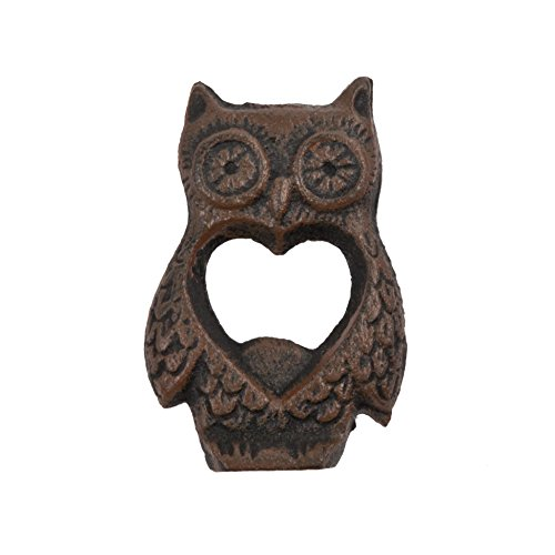 Rustic Farmhouse Cast Iron Owl Bottle Opener by Twine