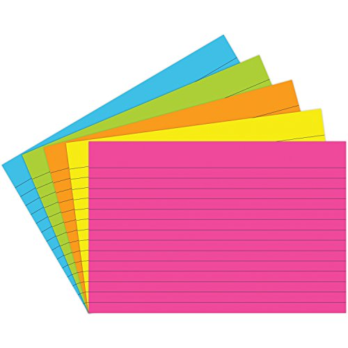 Notch Index (Top Notch Teacher Products TOP363 Lined Brite Assorted Index Cards, 0.75