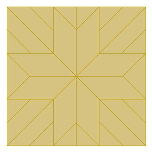 (Barn Quilt Square Design by Lines Cutout Unfinished Wood Country Decor Coloring BookDoor Hanger Everyday MDF Shape Canvas Style 1 (24