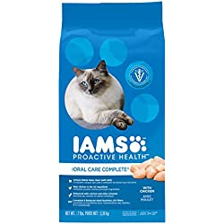 Iams Proactive Health Adult Cat Oral Care Chicken Dry Cat Food 7 Pounds