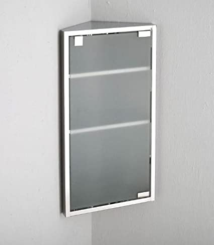 60 Cm X 30 Cm Mueble De Esquina Para Baño De Cristal Esmerilado De Una  Puerta
