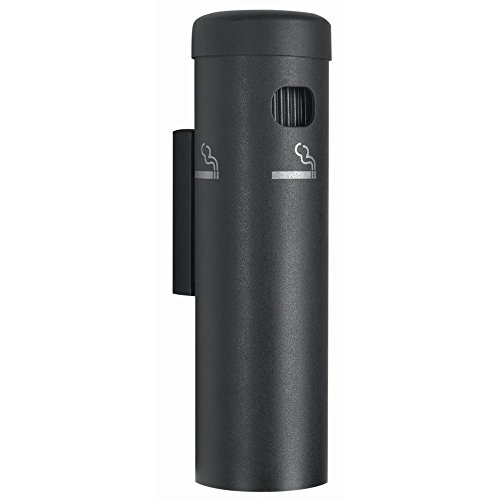 Aarco Product Inc. Black Aluminum Wall Mount Cigarette Receptacle - 3 1/2 Dia x 12 1/4 H from AARCO PRODUCTS, INC.