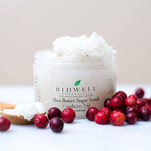Cranberry Fig Shea Butter Sugar Scrub Exfoliate Daily with Fruit Extracts