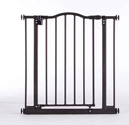 """""""Portico Arch Gate"""" by North States: A richly styled heavy-duty metal gate, meshing aesthetics with one-hand operation. Pressure mount. Fits openings from 28.25″ to 38.25″ wide (28.5″ tall, Bronze) For Sale"""