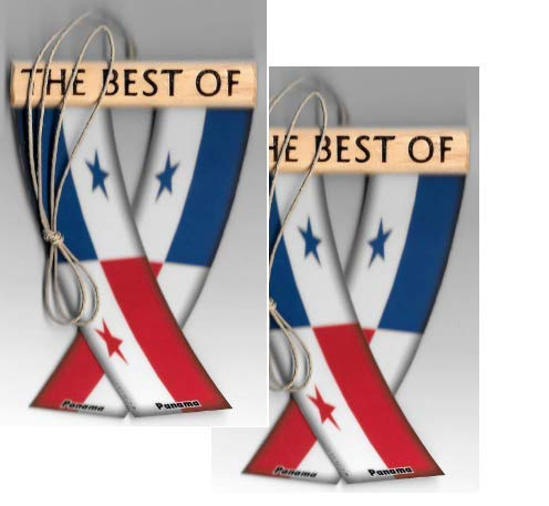 UNITY FLAGZ Panama Panamanian South American Rearview Mirror Mini Banner Hanging Flags for The CAR Two Sets