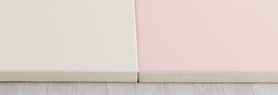 rosa claro // vainilla myPlaymat QUAD alfombra de juego plemable para beb/és y ni/ños 140*200 cm 40 mm acolchado