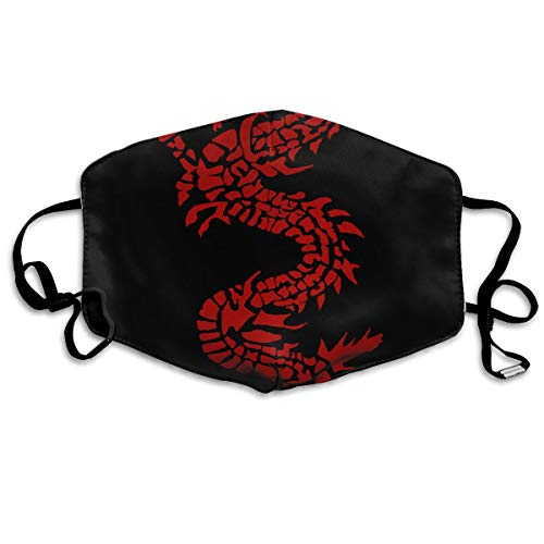 (Washable Mouth Masks Anti-Dust, Unisex Chinese Red Dragon Windproof Warm Face Mask Popular Cover Filters Flu Germs Kids )