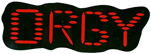Orgy - Red and Black Giant Logo - Die Cut Bumper Sticker / - Orgys Black