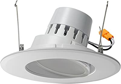 """5/6"""" Inch LED Adjustable Rotating Downlight 16.5W= (100w Equivalent) Damp Location Rated; 25,000 Life Hours; Dimmable to 5%; 5 YR Warranty; 1200 Lumens;"""