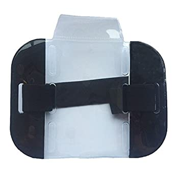 Free Shipping Security ID KIT Blue Armband Includes Hi Visability Armband /& Security Lanyard /& Double ID Holder